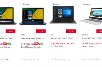 25% de descuento en Notebooks Acer y 12 cuotas fijas en Falabella