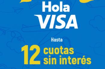 Volá donde quieras hasta 12 cuotas sin interés con Visa ✈