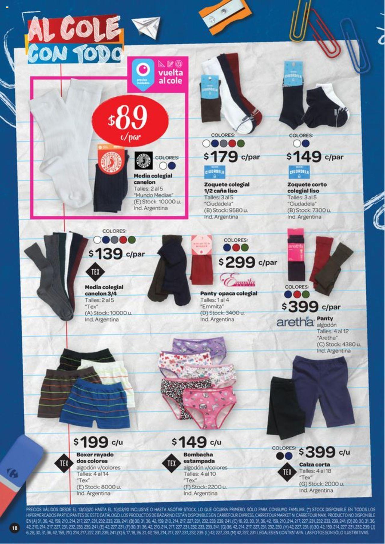 Carrefour Oferta válido desde el 13/02/2020 número de página 1 | Página: 18