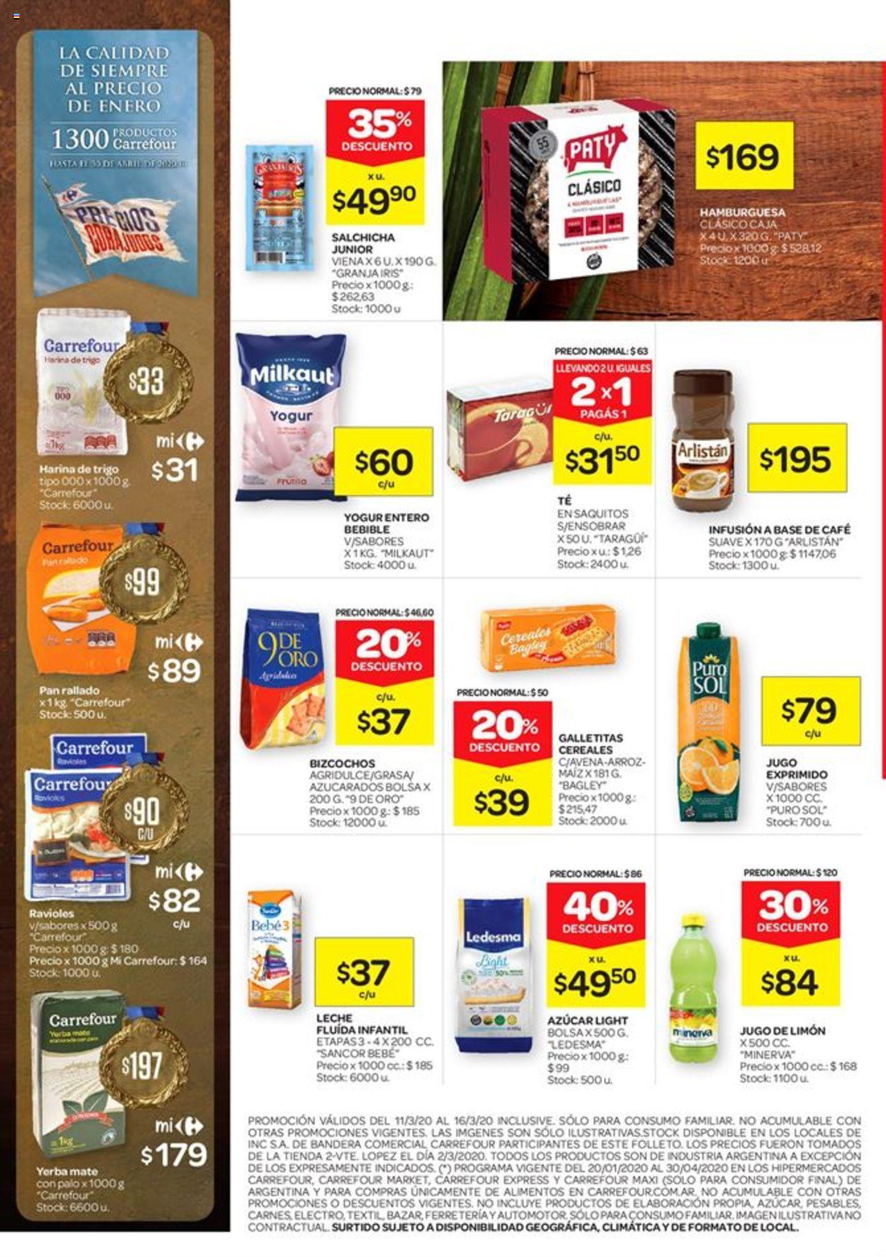 Carrefour - Catálogo válido desde el 11/03/2020 número de página 1 | Página: 2
