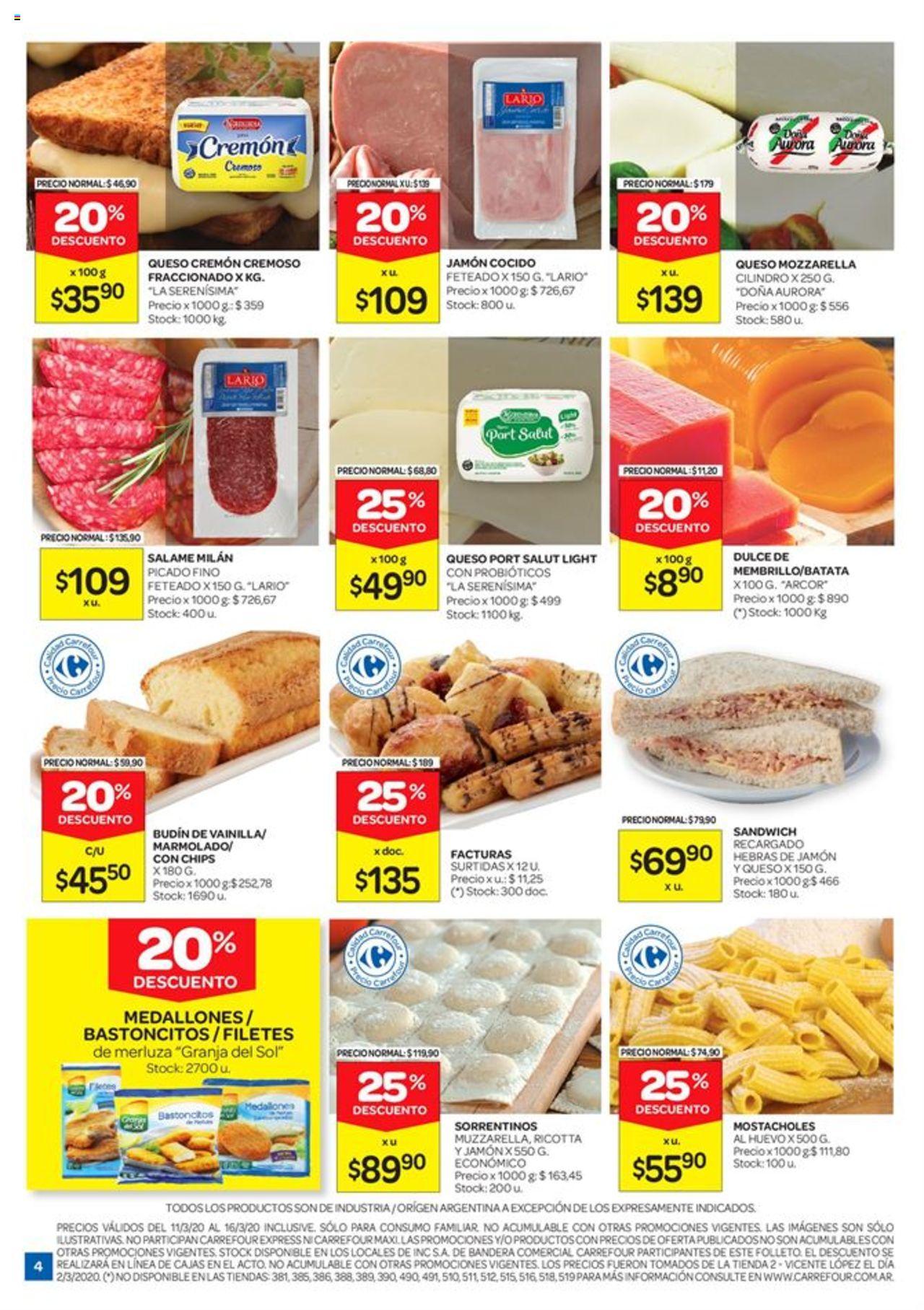 Carrefour - Catálogo válido desde el 11/03/2020 número de página 1 | Página: 4