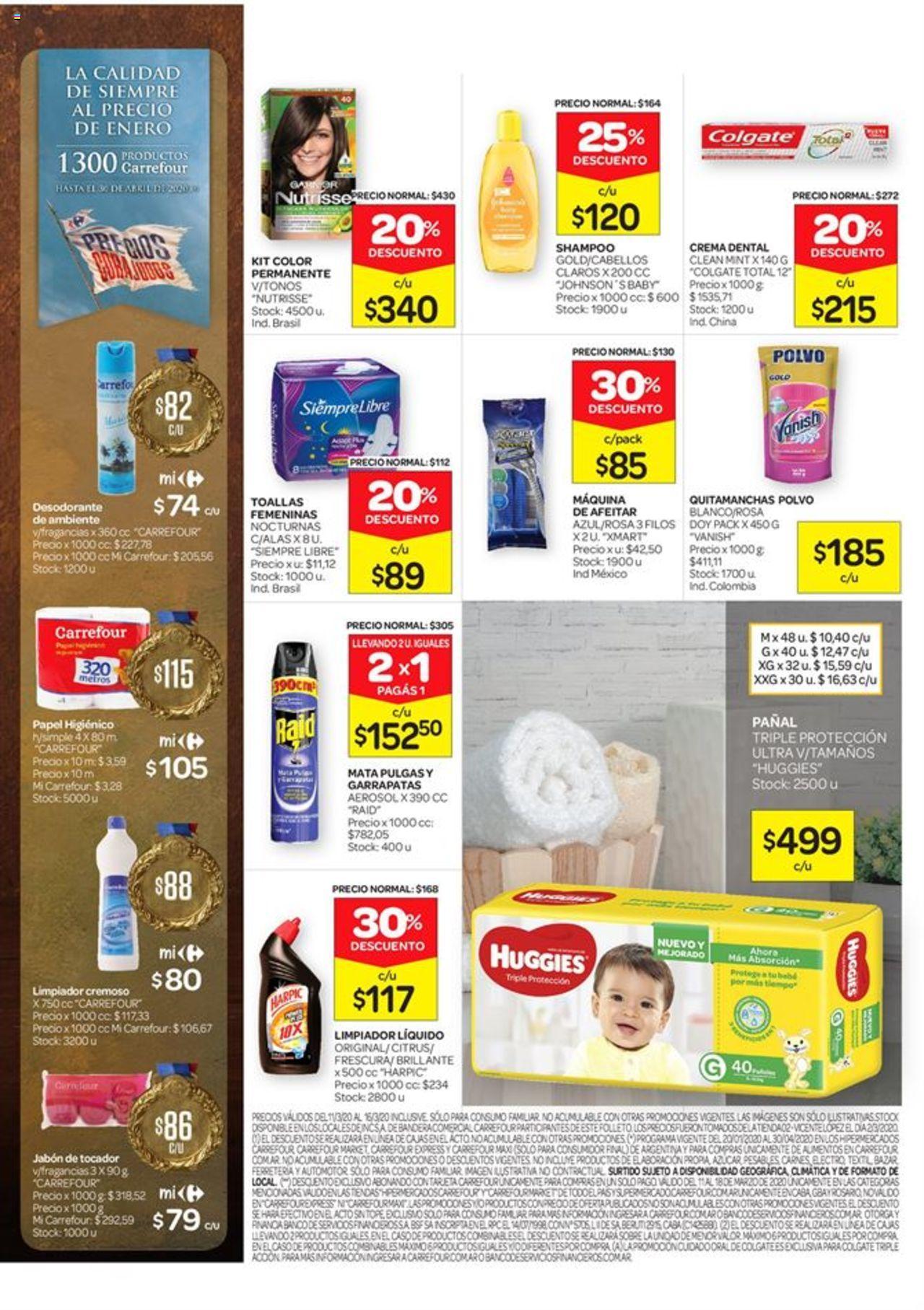 Carrefour - Catálogo válido desde el 11/03/2020 número de página 1 | Página: 6