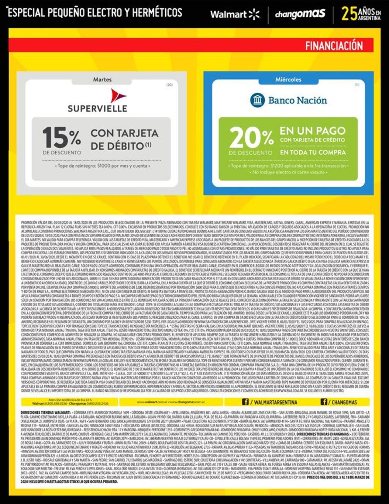 Changomas Promociones válido desde el 05/03/2020 número de página 1 | Página: 6