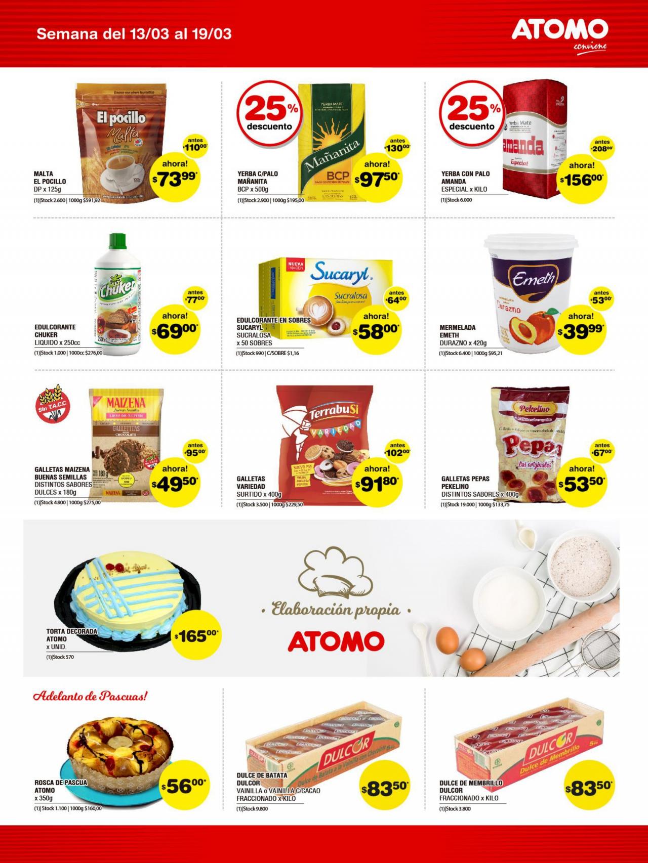 Catálogo de ofertas ATOMO  del 13/03/2020